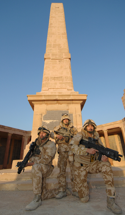 Armed guard required to photograph Basrah Memorial- Sergeant Ian Forsyth