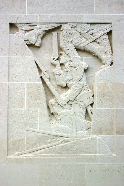 Cambrai Memorial wall relief