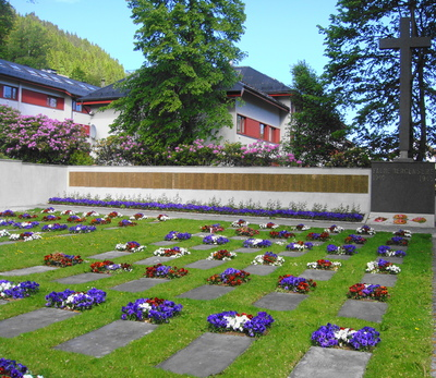 Civilan memorial in Solheim, Bergen, Norway to the 500 dead