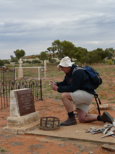 Tonyb Wege in the outback of Australia