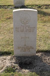 [IMAGE] Ismailia War Memorial Cemetery - Watson, Beatrice Middleton