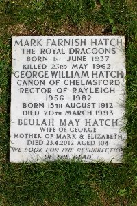 Rayleigh (Holy Trinity) Churchyard - Hatch, Mark Farnish