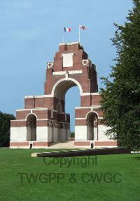 Thiepval Memorial - Tutt, Thomas